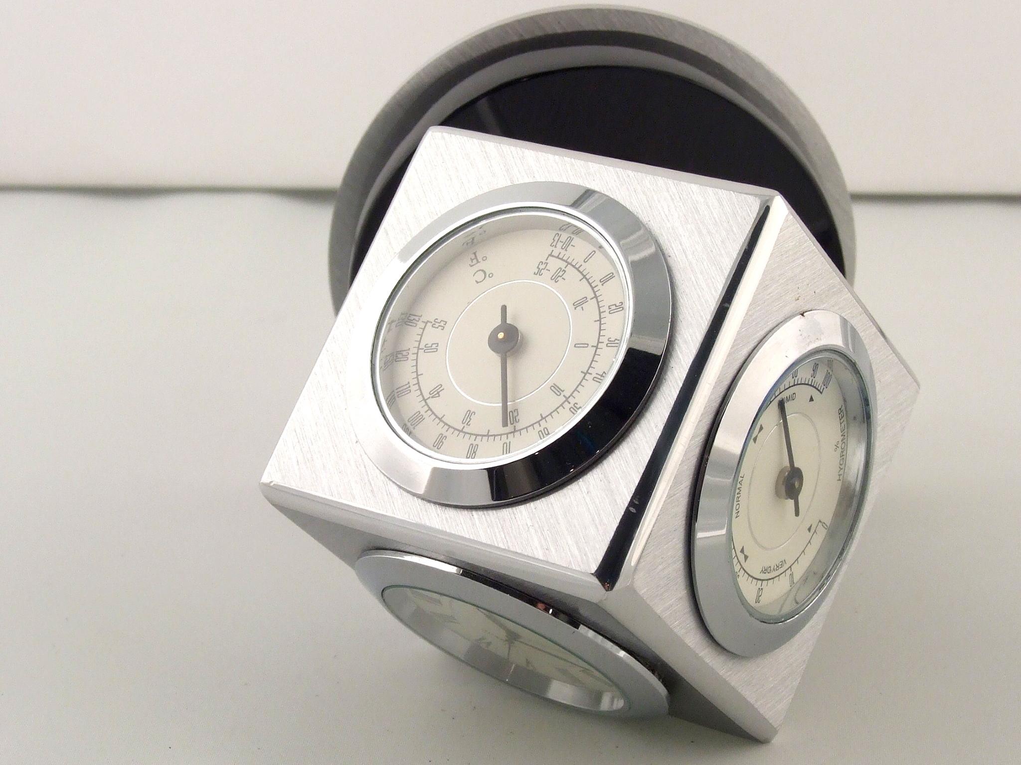 Pierre cardin table clock hygrometer thermometer ebay for Orologio da tavolo thun