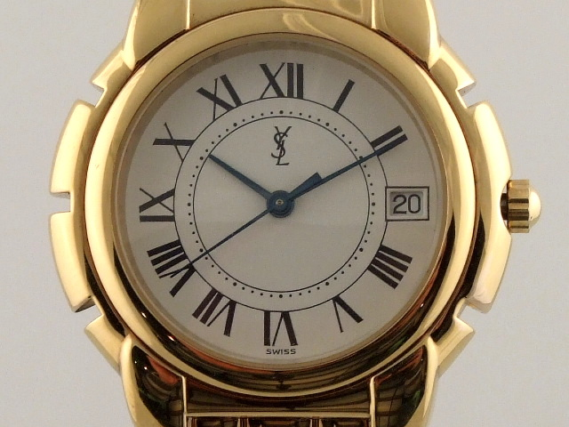 ysl yves saint laurent gold plated swiss made ladie's watch