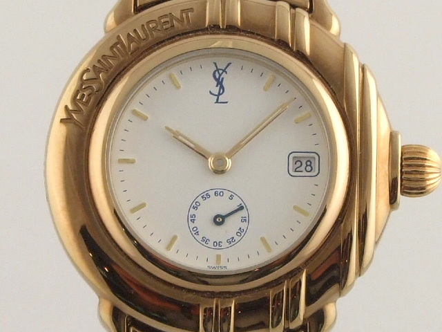 Ysl Yves Saint Laurent Gold Plated Swiss Made Ladie S